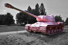 The 2nd World War Pink Tank T34 Stock Images
