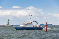 Nde tedesco del ¼ di Granitz Warnemà della nave della polizia fotografia stock