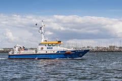 Nde tedesco del ¼ di Warnow Warnemà della nave della polizia immagini stock