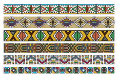 Ndebele African Border Pattern Art 2. Vector art of various Ndebele African patterns borders artwork Stock Photo