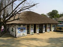 Ndebele-Dorf Stockfotografie