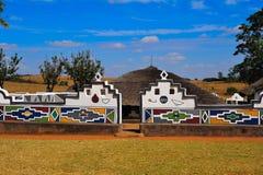 Ndebele Dorf (Südafrika) Lizenzfreies Stockbild