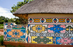 Ndebele house stock photos