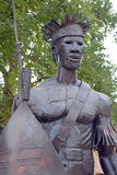 Ndebele warrior steel statue Royalty Free Stock Image