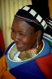 Ndebele woman, Pilgrim's Rest, South Africa. The Ndebele are part of the larger Nguni ethnic group. They are thought to have travelled from Natal  to the Royalty Free Stock Photography