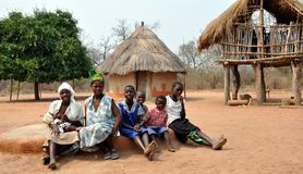 Ndebele Women and Girls, Gokwe North, Zimbabwe Royalty Free Stock Photo
