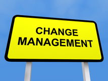Ändern Sie Managementzeichen Stockfotografie