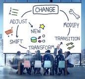 Ändern Sie Verbesserungs-Entwicklung justieren umwandeln Konzept Stockfoto