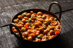 Ndian keuken-kruidige kekers Chola Masala royalty-vrije stock foto