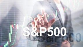 ?ndice americano S P 500 do mercado de valores de a??o - SPX Conceito de troca financeiro do neg?cio imagem de stock royalty free