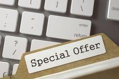 Índice de la carpeta con oferta especial 3d Fotos de archivo libres de regalías