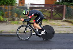 Ndividual time trial, polish championships in road cycling Royalty Free Stock Photos