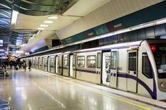 NDK地铁车站在索非亚 免版税库存图片