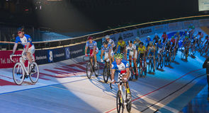 Ndoor bike challenge Sixday-Nights Zürich 2011 Royalty Free Stock Photography