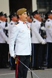 NDP 2011 Parade Commander giving commands Royalty Free Stock Image