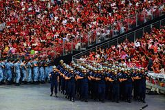 Ndp 2016 March Past Parade Royalty Free Stock Images