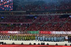 Ndp 2016 Marching Contingents Stock Photography