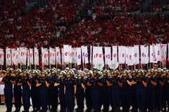 Ndp Singapore ståtar den nationella dagen 2016 Royaltyfri Bild