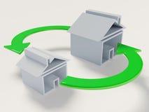 ändra huset Arkivbild