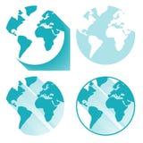 ändra vektorn för jordklotsymbolen enkelt Arkivfoto