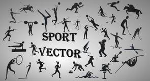 ändra vektorn för sporten för silhouettes för färgdetaljen den lätta höga Arkivbild