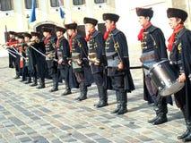 Ändring för Kravat regimentguard Arkivbilder