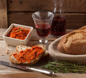 Nduja or sobrasada Mediterranean meat spread Royalty Free Stock Photos