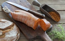 Nduja or sobrasada. A typical meat spread in Calabria, Italy and Majorca, Spain Stock Photo