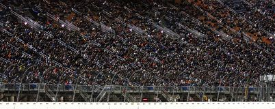 Ndycar Racing Chicagoland Speedway Illinois Night Racing. Joliet Illinois, USA - August 29, 2009: IndyCar Racing League. Night Race action, fans in the stands stock photo