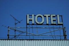 Neón del hotel Imagen de archivo libre de regalías