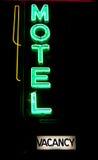 Neón del motel Foto de archivo libre de regalías