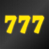 neón del oro del bote 777 Imagenes de archivo