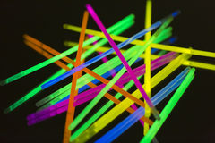 Neón fluorescente coloreado de las luces Imágenes de archivo libres de regalías