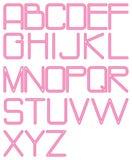 Neón redondeado alfabeto Imágenes de archivo libres de regalías