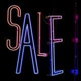 Neónes de la venta Imagen de archivo libre de regalías