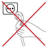 Ne branchez pas le signe illustration de vecteur
