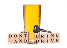 Ne buvez pas et ne pilotez pas Photo libre de droits