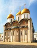 Ne of the cathedrals inside the Kremlin, Moscow, Russia. Uspensky cathedral.  royalty free stock photo