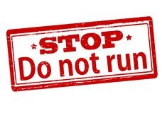 Ne courez pas Images stock