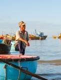 Pêcheur vietnamien Images libres de droits