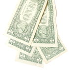 Ne dollar bills background Stock Photos