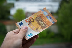 New 50 euro banknote Stock Photography