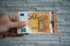 New 50 euro banknote Stock Photos