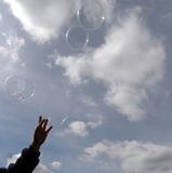 ne för bubblor Fotografering för Bildbyråer