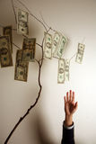 ne för handpengar Arkivbilder