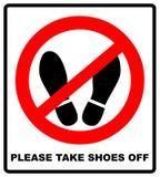Ne faites pas un pas ici pour satisfaire de signer l'illustration de vecteur Photo libre de droits