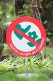 Ne faites pas un pas sur le signe de fleur Image libre de droits