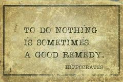 Ne faites rien Hippocrate Photos libres de droits