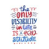 Ne font pas le juge Disability de ` illustration libre de droits