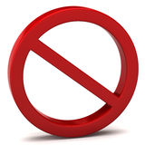 Ne font pas le signal d'avertissement Image libre de droits
